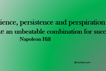 Patience, Persistence, and success