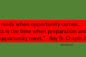 You have to look for opportunities