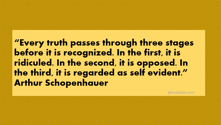 Truth passes through three stages