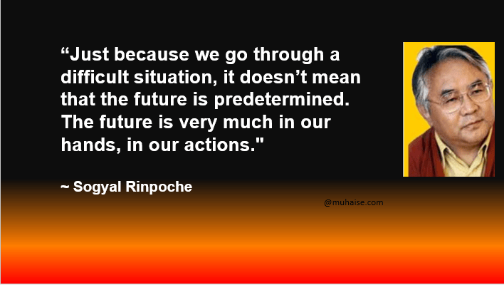 You are in control of your future