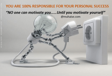 You are 100% responsible for your personal success