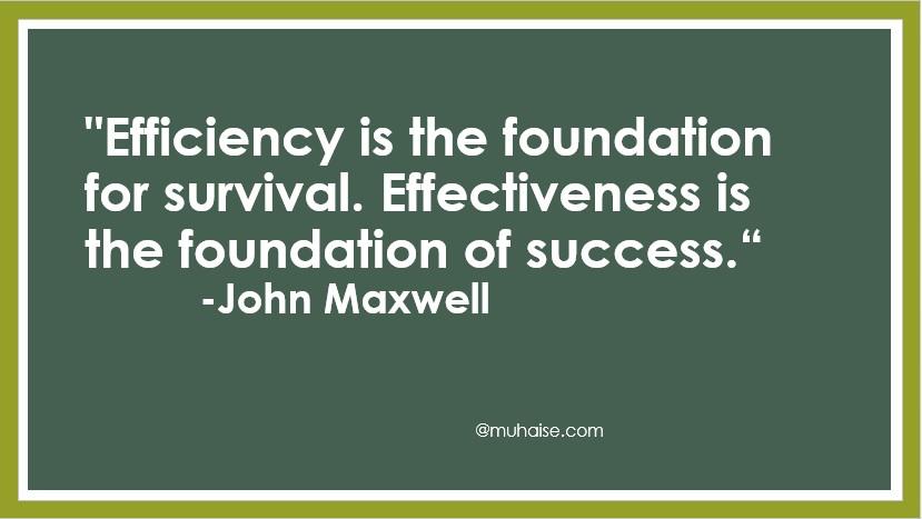 Efficiency or Effectiveness