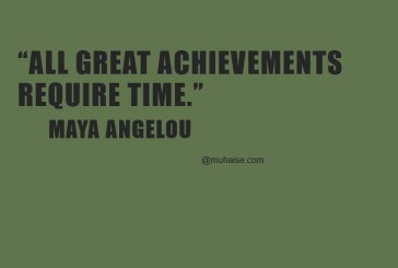 Time is of great value