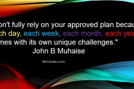 Don't fully rely on your approved plan
