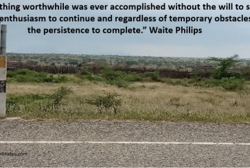 The willingness to start despite obstacles