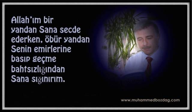Muhammed Bozdağ, Dua