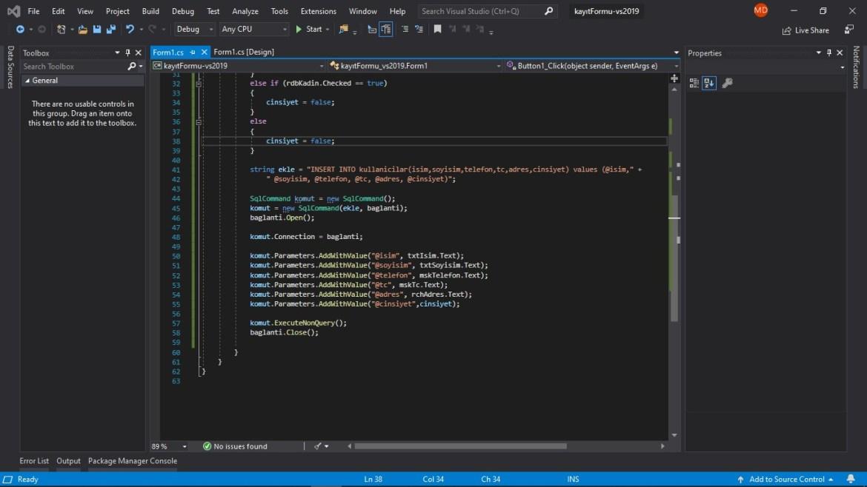 C# form kayıt formu kodları 2