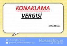 KONAKLAMA VERGİSİ