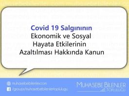 covid19un ekonomik ve sosyal etkilerini azaltılmasi hakkinda kanun