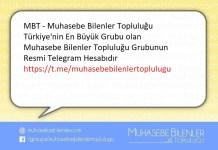 Bu Yazımızın Konusu : M.B.T. Telegram Hesabı (Whatsap grubunuz var mı soranlarına da duyurumuz)