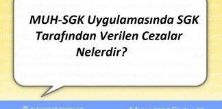 MUH-SGK Uygulamasında SGK Tarafından Verilen Cezalar Nelerdir?