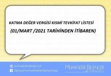 KATMA DEĞER VERGİSİ KISMİ TEVKİFAT LİSTESİ