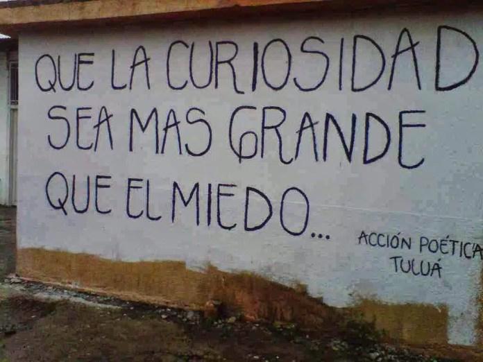 Acción Poética MUHIMU curiosidad mas grande que el miedo