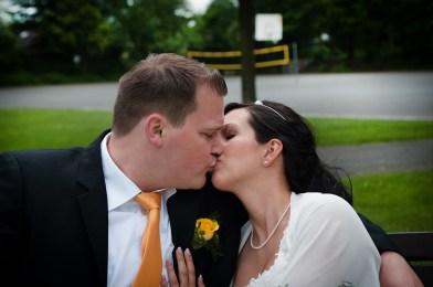 Brautpaar unter sich