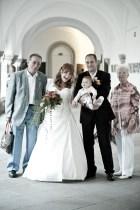 Gruppenfotos sind Standards bei der Hochzeit