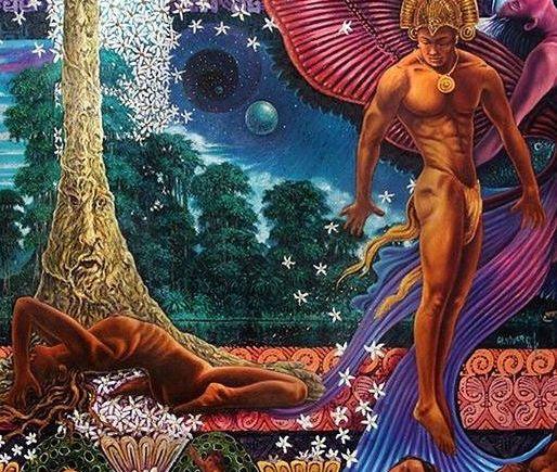 Foto de la pintura en Oleo de Alfredo Vivero