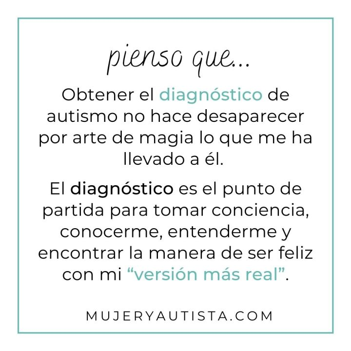Reflexión sobre mi diagnóstico de autismo