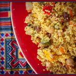 Vegan Moroccan couscous.