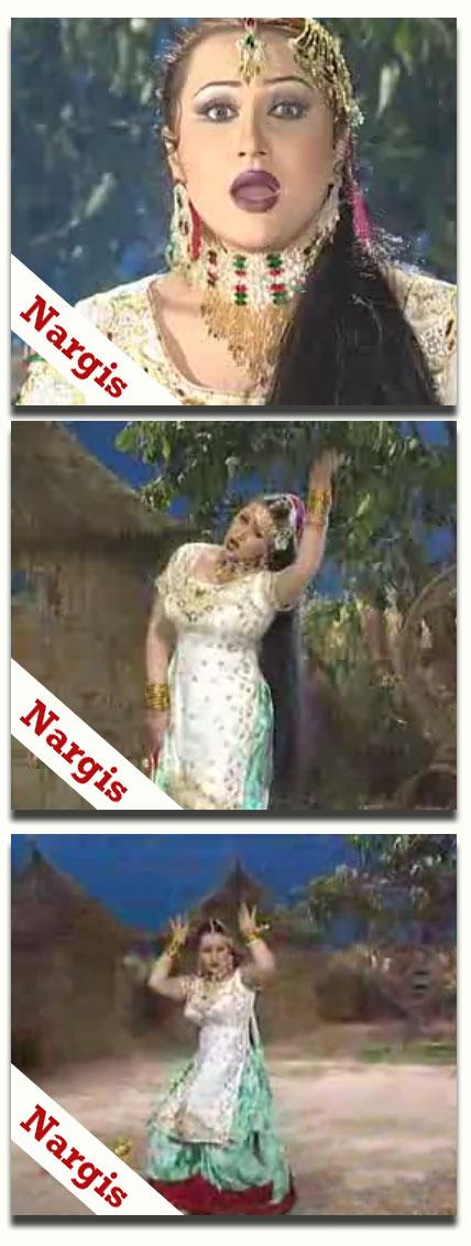 Nargis - hot mujra -  Zulfan Di Thandi Thandi - wearing classical salwar kamiz with tight fitting - dance video