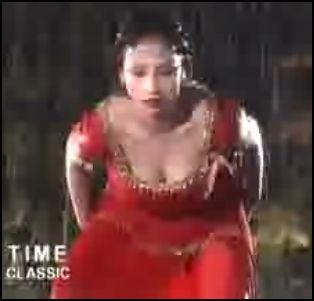 Wet Nadia in red dress