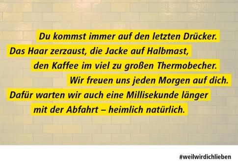 Plakatserie: BVG-Geschichten