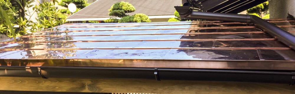 銅板 一文字葺き 屋根 板金