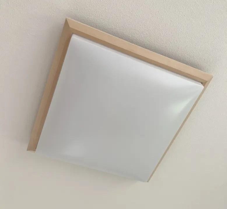 和室に木製フレームのシーリングライトは好印象。LED照明を設置する5つのポイント