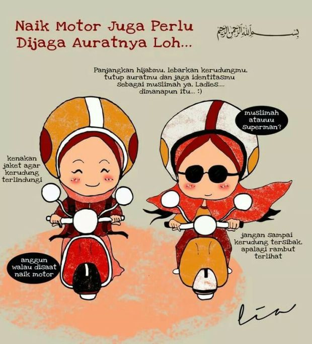 Koleksi Gambar Kartun Hijab Lucu Untuk Ucapan  Mukena