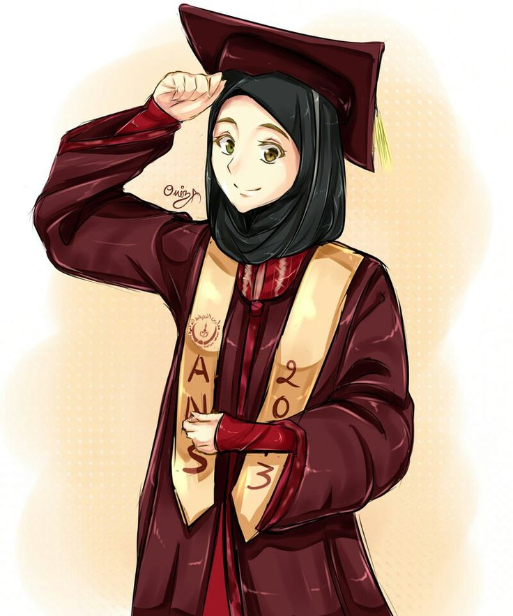 60 Gambar Kartun Lucu Hijab Terbaru