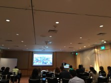 David Lomax, Manager Ground Training, Cathay Pacific Airways, presenting Cathay's Virtual Aircraft Training System.