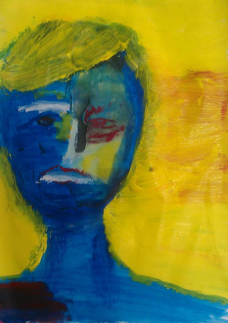 Faces - feeling blue