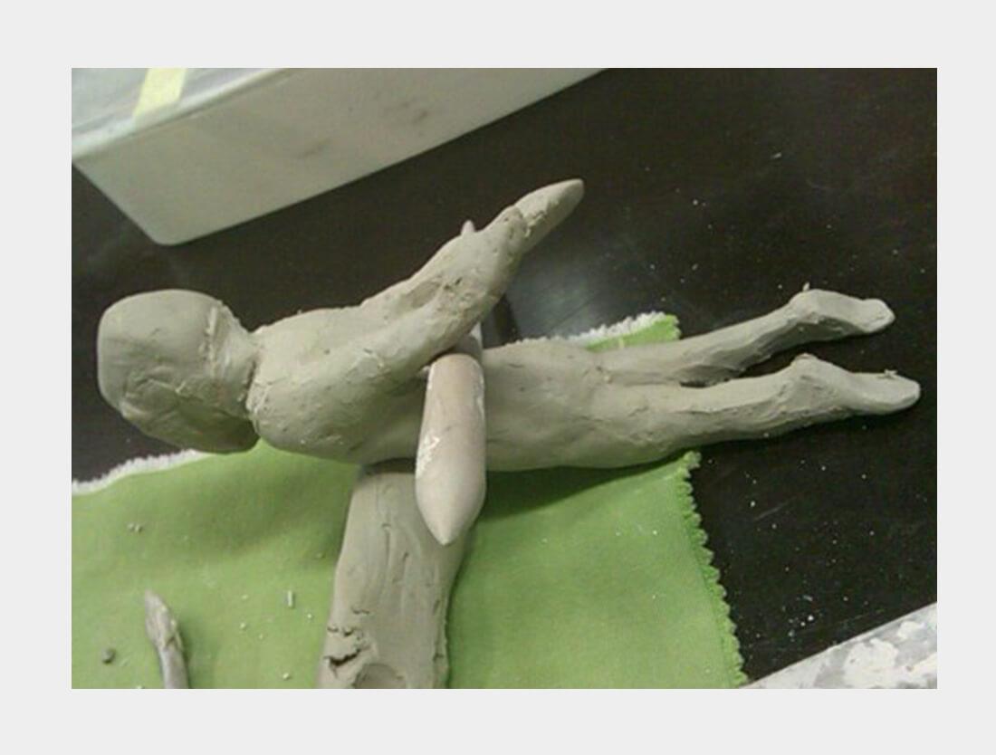 Icarus in klei boetseren