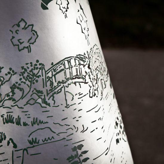 Macro opname Asian Paperdress