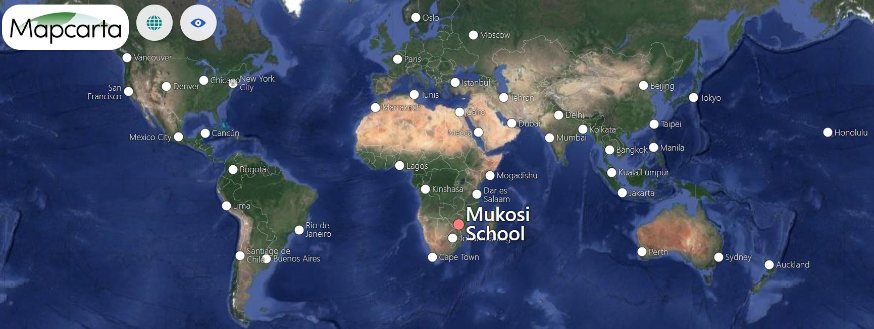 Geographical Location Mukosi School