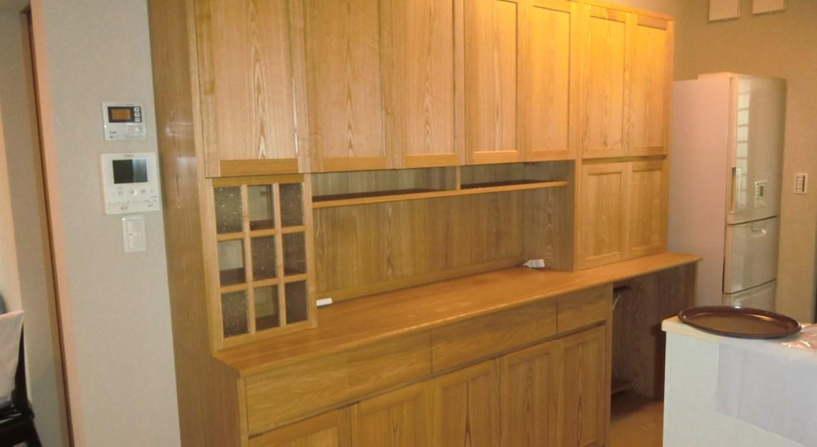 食器棚(カップボード)の納品