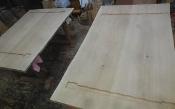 テーブル 座卓 蟻溝加工