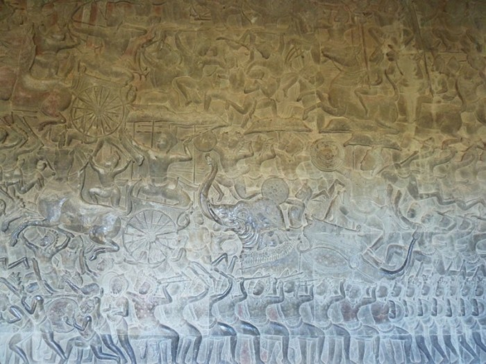Cambodge, Temple d'Angkor, La bataille de Kurukshetra