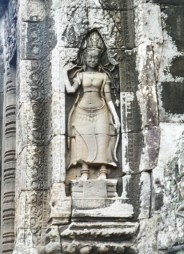 Statue Devata - Temples d'Angkor