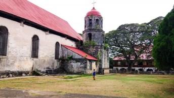 L'église de San Isidor Labrador à Lazi sur l'île de Siquijor- Philippines