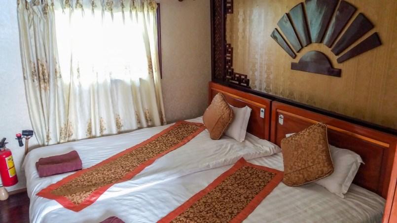 chambre de ma jonque baie d'halong Vietnam