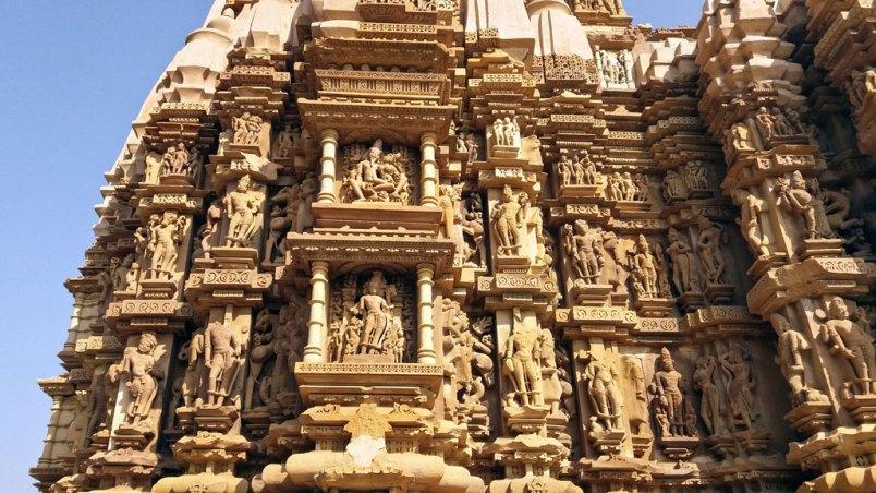 détail du temple Kandariya Madeva