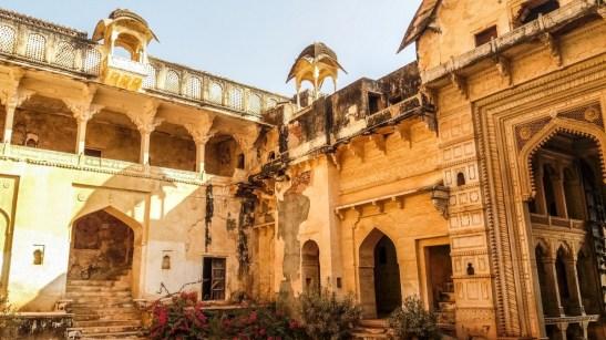 La cour du Diwan I Am dans le Palace de Bundi