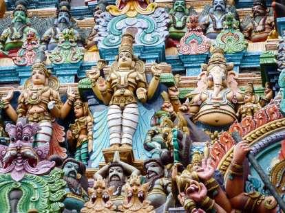 Détails d'un Gopuram de Madurai