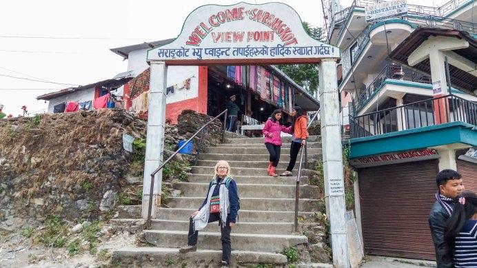 Entrée du View Point à Sarangkot