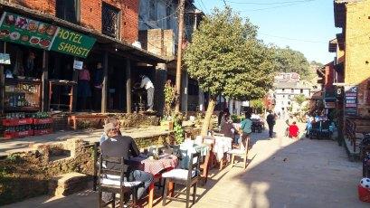 Terrasse de café à Bandipur