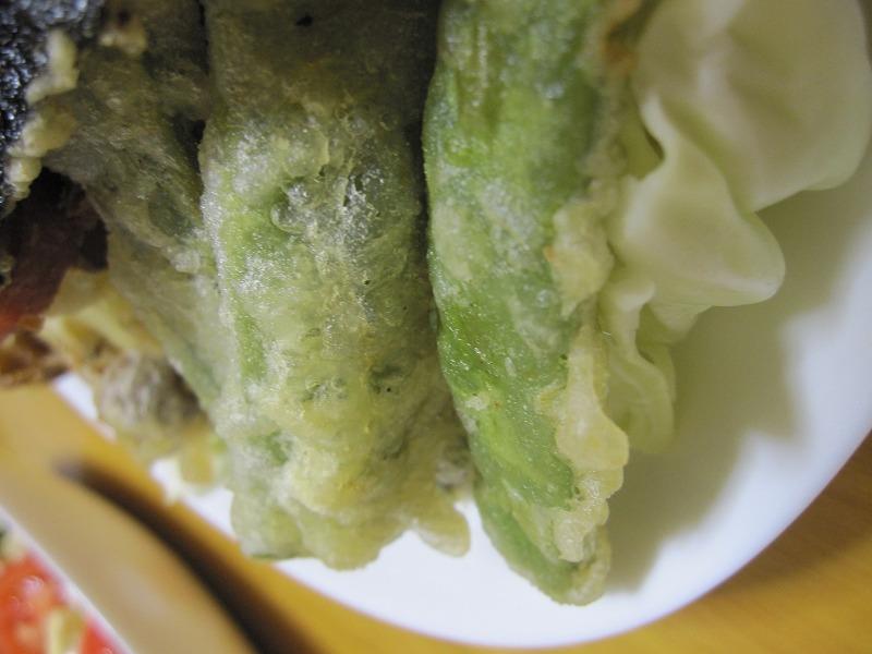 ジャンボいんげん 天ぷら