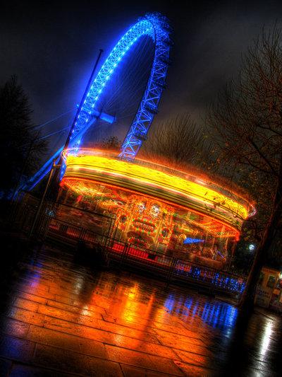 carousel lit up