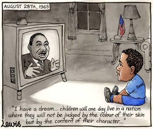 mlk baby obama