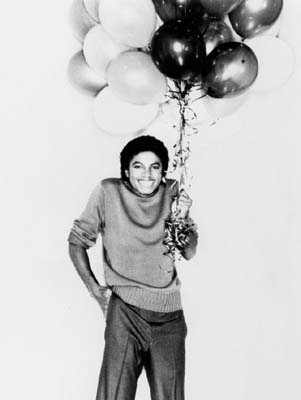 mj with balloons