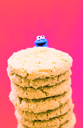 cookie monster and cookies